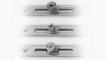 Verriegelungsbolzen mit achteckigem Verschluss des Typs Pilz