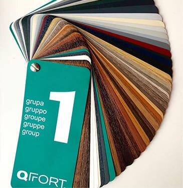 Farbauswahl für PVC-Fenster
