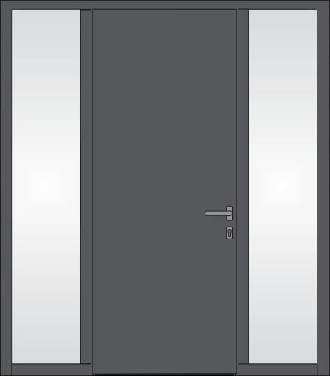 Tür mit Glaseinsatz rechts und links