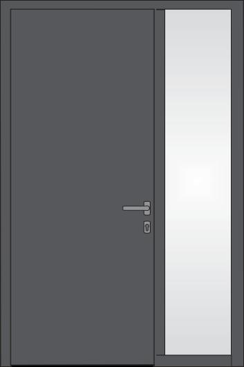 Tür mit Glaseinsatz rechts